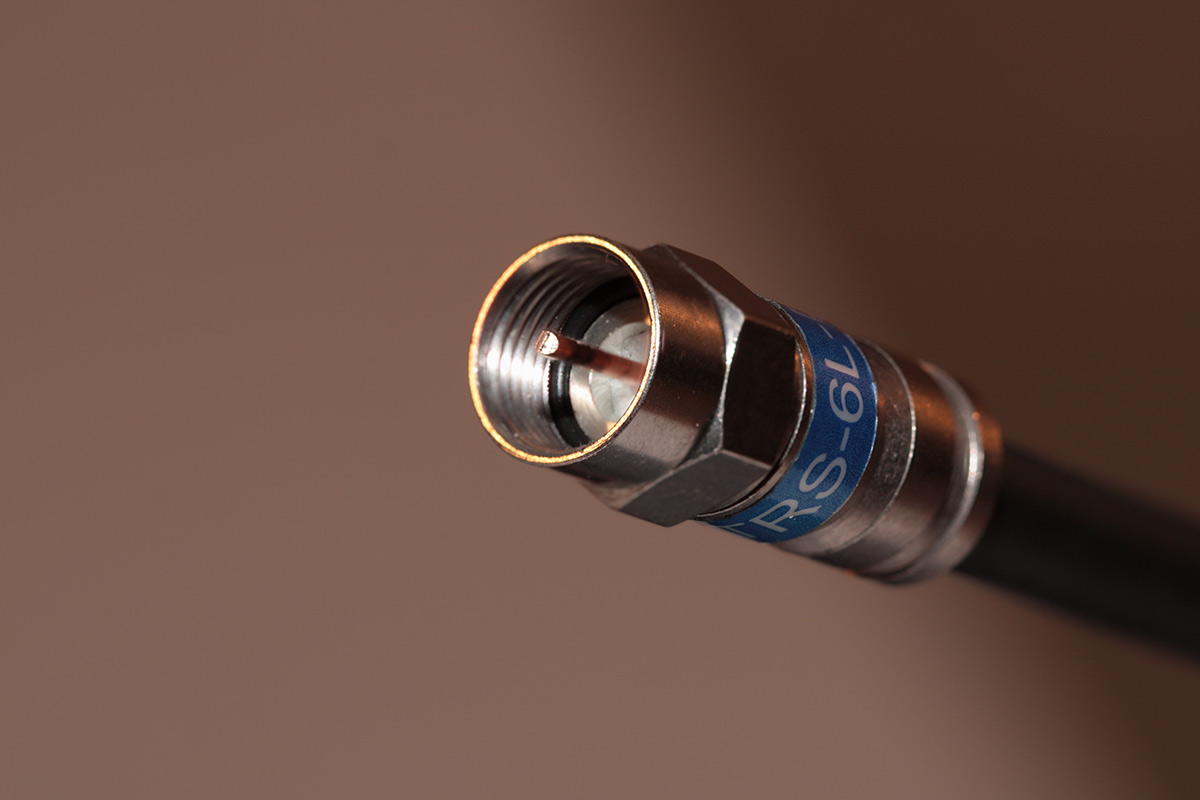 HD-PLC-supported coaxial cable