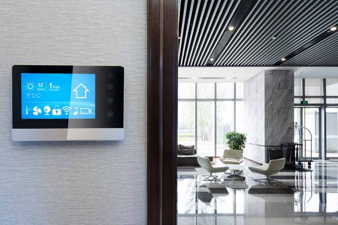 Smart building example - building automation