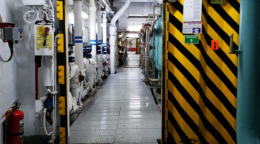 Engine room of a cruise ship